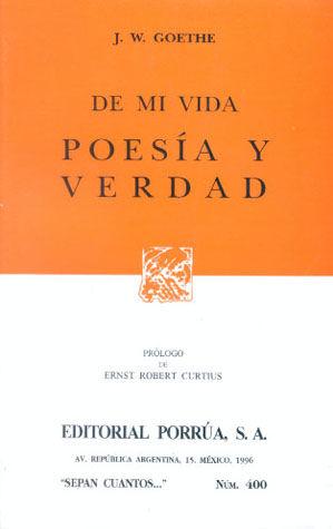# 400. DE MI VIDA POESIA Y VERDAD