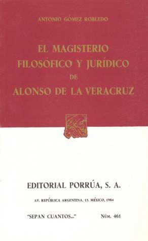# 461. EL MAGISTERIO FILOSOFICO Y JURIDICO