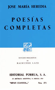 # 271. POESIAS COMPLETAS / JOSE MARIA HEREDIA