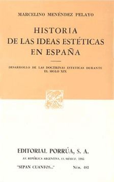# 483. HISTORIA DE LAS IDEAS ESTETICAS EN ESPAÑA SIGLO XIX