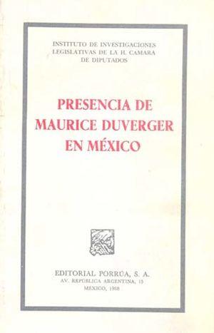 PRESENCIA DE MAURICE DUVERGER EN MEXICO