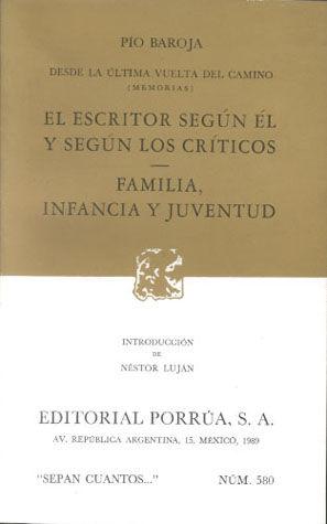 # 580. EL ESCRITOR SEGUN EL Y SEGUN LOS CRITICOS