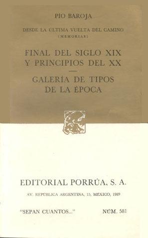 # 581. FINAL DEL SIGLO XIX Y PRINCIPIOS DEL XX / GALERIA DE TIPOS DE LA EPOCA