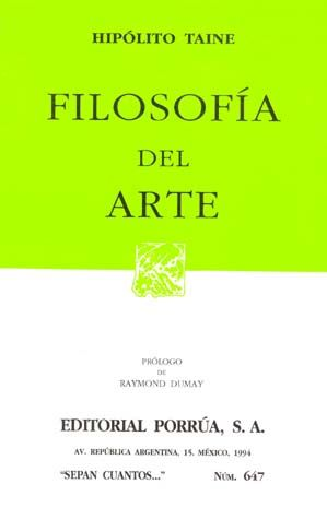 # 647. FILOSOFIA DEL ARTE