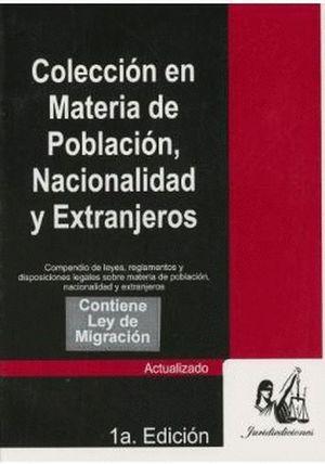 COLECCION EN MATERIA DE POBLACION NACIONALIDAD Y EXTRANJEROS