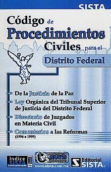 CODIGO DE PROCEDIMIENTOS CIVILES PARA EL DISTRITO FEDERAL