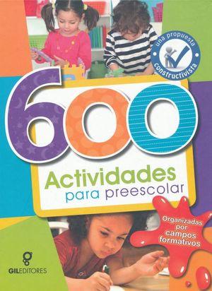 600 ACTIVIDADES PARA PREESCOLAR / PD.