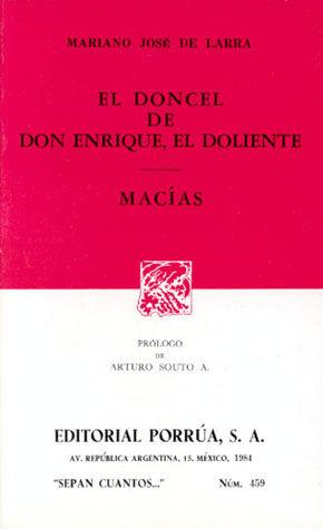 # 459. EL DONCEL DE DON ENRIQUE EL DOLIENTE