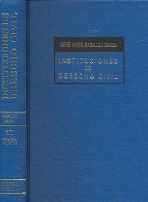 INSTITUCIONES DE DERECHO CIVIL 6 PARTE PRIMERA / 2 TOMOS / PD.