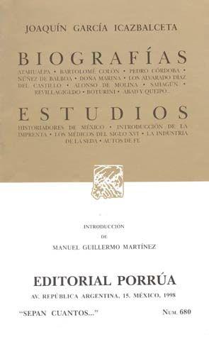 # 680. BIOGRAFIAS / ESTUDIOS