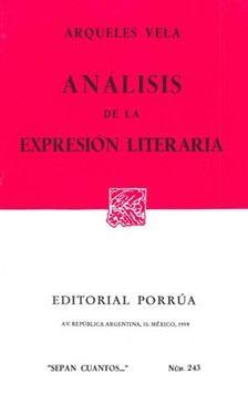 # 243. ANALISIS DE LA EXPRESION LITERARIA