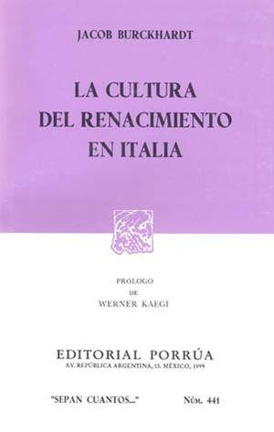 # 441. LA CULTURA DEL RENACIMIENTO EN ITALIA