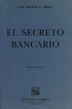 SECRETO BANCARIO, EL