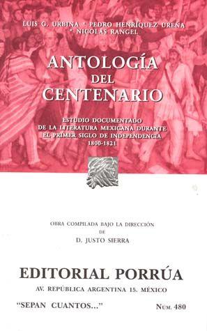# 480. ANTOLOGIA DEL CENTENARIO