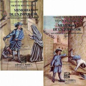 MEMORIAS DE UN IMPOSTOR / 2 TOMOS / PD.