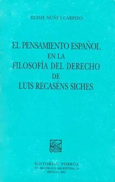 Pensamiento español en la filosofía del derecho