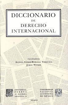 DICCIONARIO DE DERECHO INTERNACIONAL
