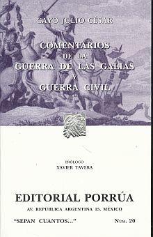 # 20. COMENTARIOS DE LA GUERRA DE LAS GALIAS Y GUERRA CIVIL