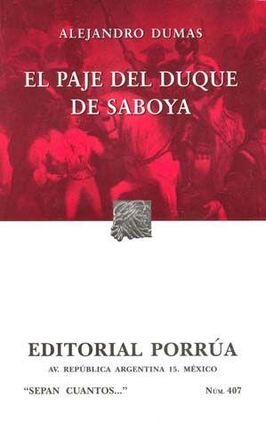 # 407. EL PAJE DEL DUQUE DE SABOYA