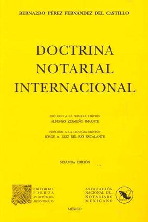 DOCTRINA NOTARIAL INTERNACIONAL 2/ED
