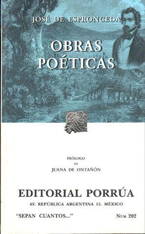 # 202. OBRAS POETICAS / JOSE DE ESPRONCEDA