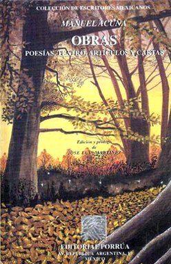 OBRAS. POESIA TEATRO ARTICULOS Y CARTAS / MANUEL ACUÑA / PD.