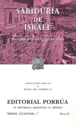 # 51. SABIDURIA DE ISRAEL / 7 ED.