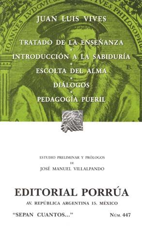 # 447. TRATADO DE LA ENSEÑANZA / INTRODUCCION A LA SABIDURIA