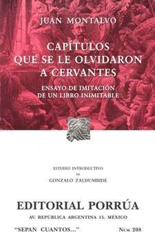 # 208. CAPITULOS QUE SE LE OLVIDARON A CERVANTES