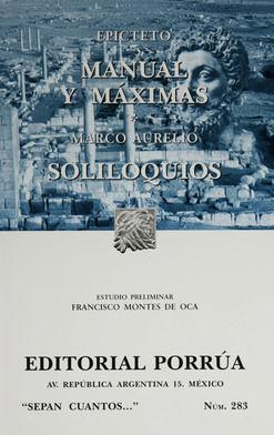 # 283. MANUAL Y MAXIMAS / SOLILOQUIOS