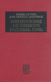 INSTITUCIONES DE DERECHO PROCESAL CIVIL / 29 ED. / PD.