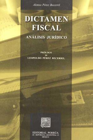 DICTAMEN FISCAL. ANALISIS JURIDICO