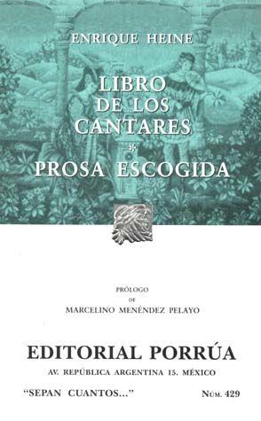 # 429. LIBRO DE LOS CANTARES / PROSA ESCOGIDA