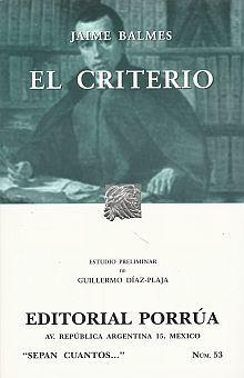 # 53. EL CRITERIO