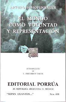 # 419. EL MUNDO COMO VOLUNTAD Y REPRESENTACION