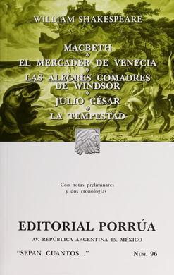 # 96. MACBETH / EL MERCADER DE VENECIA / JULIO CESAR