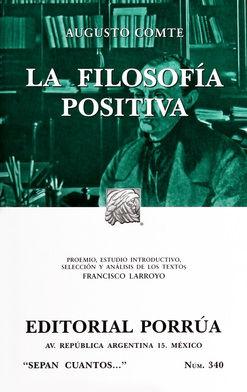 # 340. LA FILOSOFIA POSITIVA