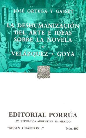 # 497. DESHUMANIZACION DE ARTE / VELAZQUEZ GOYA