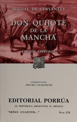 # 578. DON QUIJOTE DE LA MANCHA (EDICION ABREVIADA)