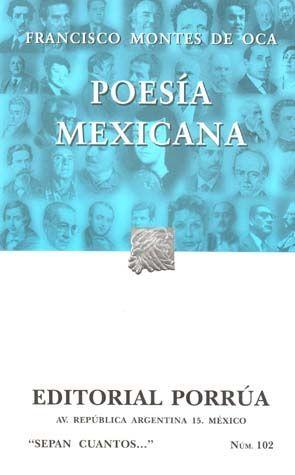 # 102. POESIA MEXICANA