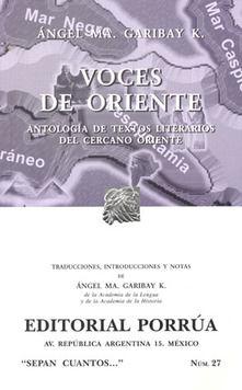 # 27. VOCES DE ORIENTE