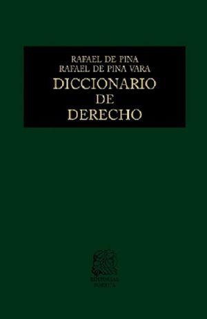 DICCIONARIO DE DERECHO / 37 ED. / PD.