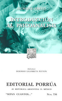 # 736. INTRODUCCION AL PSICOANALISIS