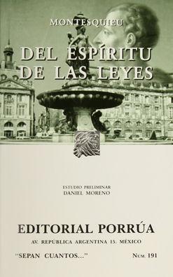 # 191. DEL ESPIRITU DE LAS LEYES