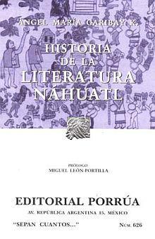 # 626. HISTORIA DE LA LITERATURA NAHUATL