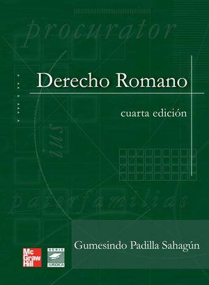 DERECHO ROMANO / 4 ED. / PD.