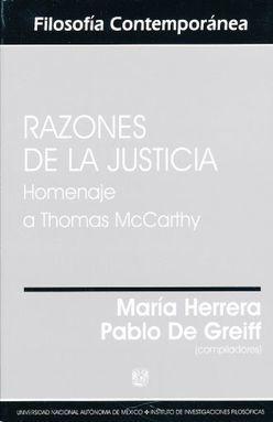 RAZONES DE LA JUSTICIA. HOMENAJE A THOMAS MCCARTHY