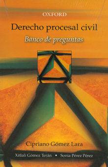 DERECHO PROCESAL CIVIL. BANCO DE PREGUNTAS