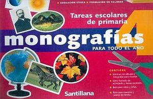 MONOGRAFIAS PARA TODO EL AÑO 4. PRIMARIA