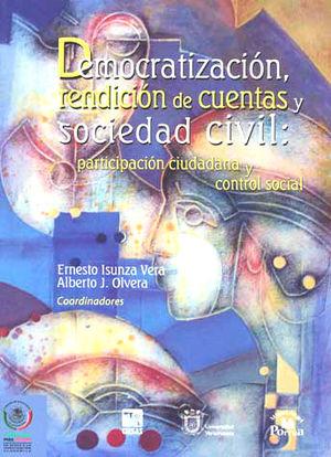 DEMOCRATIZACION RENDICION DE CUENTAS Y SOCIEDAD CIVIL PARTICIPACION CIUDADANA Y CONTROOL SOCIAL